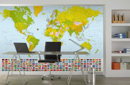 Map of the World wall mural wallpapers